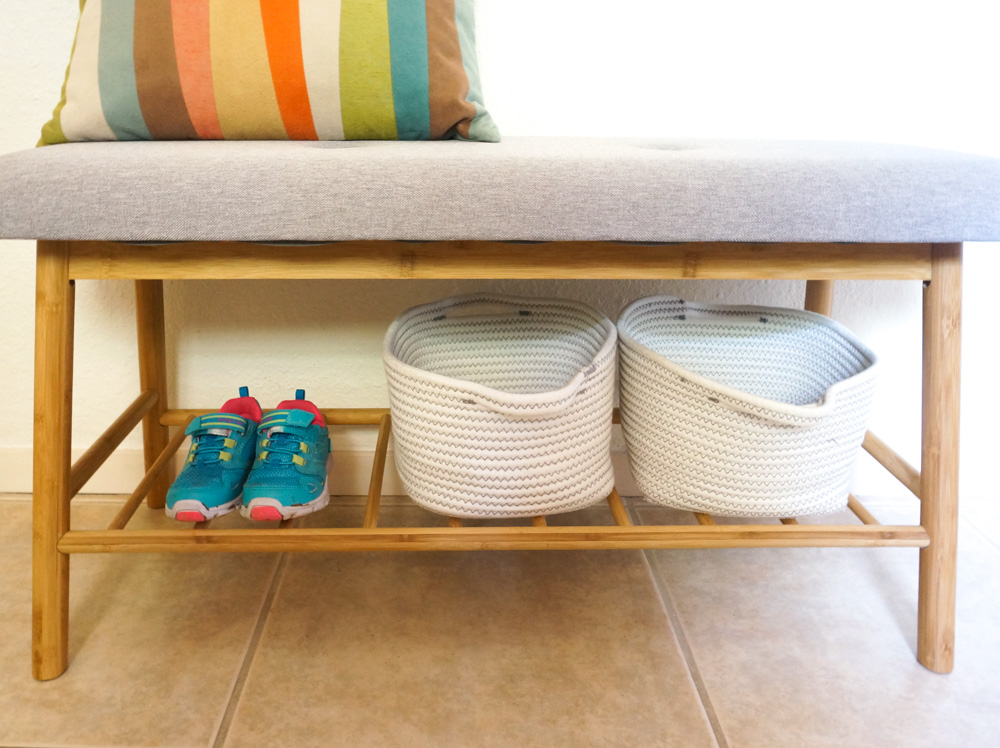Utilize available space under the bench