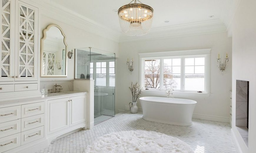 20 White Bathrooms that Bring Home Spa-Styled Relaxation