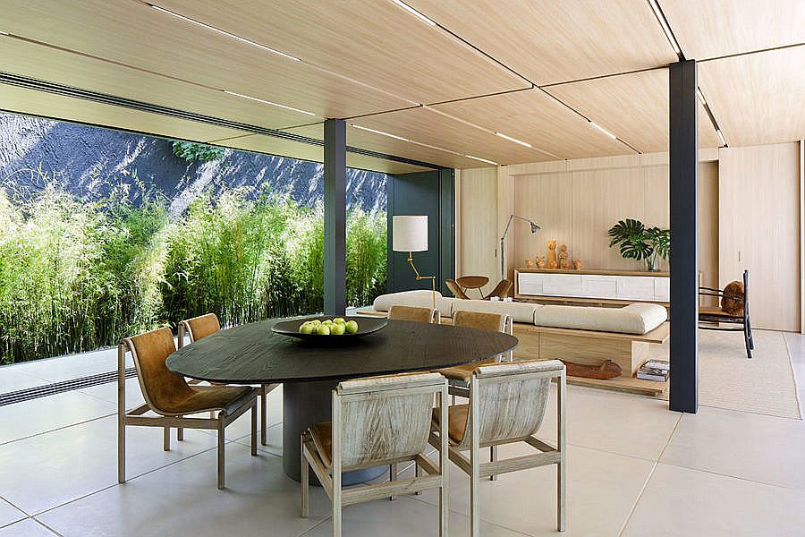 Dining area and kitchen feel like a natural extension of the living space