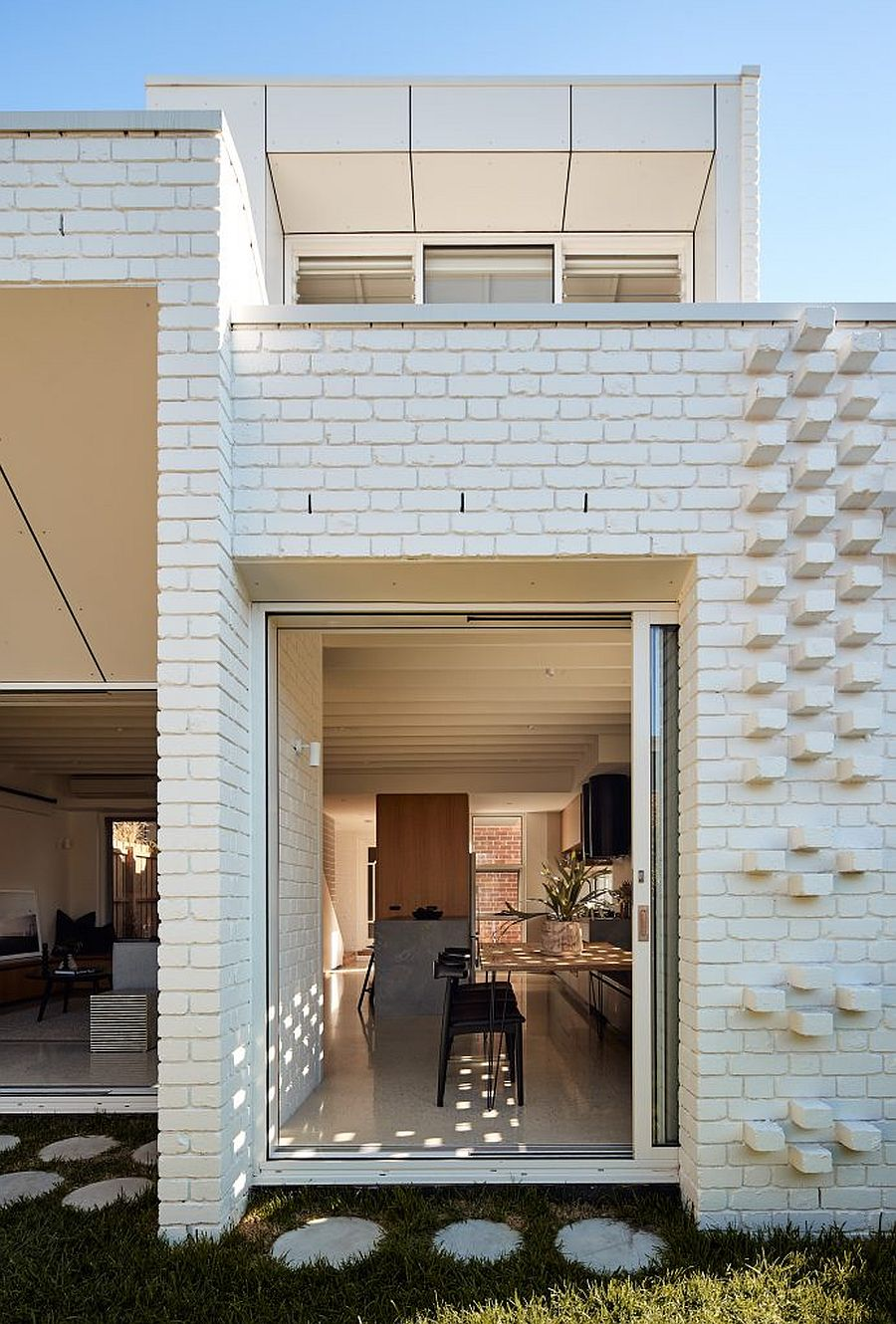 Fabulous new brick extension to Melbourne house with rainwater collecting system
