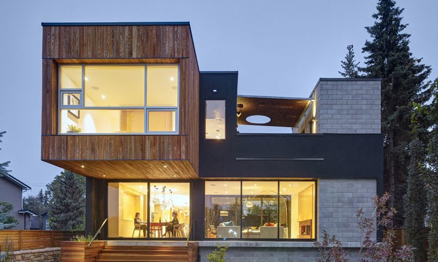Expansive Canadian Home with Two-Story Courtyard Adapts to Riverfront Needs