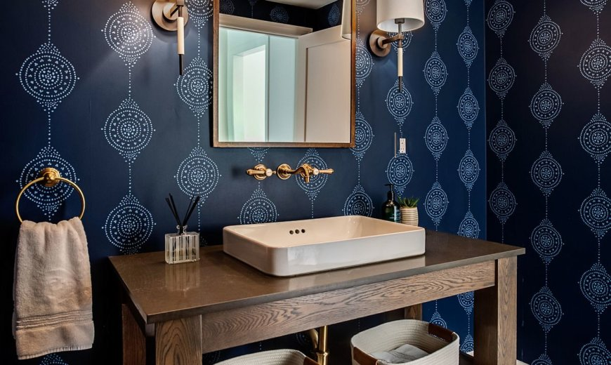 Fabulous Farmhouse Style Powder Rooms Save Space with Cozy Country Charm