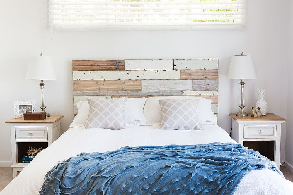 Understated wooden accents for the modern bedroom in white